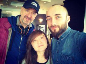 Ние с Влатко Стефановски, непосредствено след интервюто